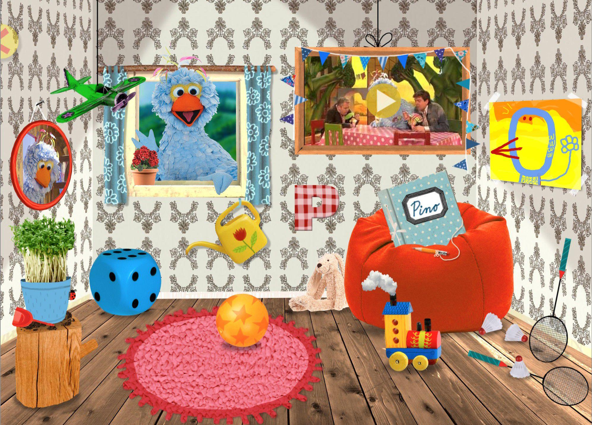 De kamer van Pino! – sesamstraat.nl